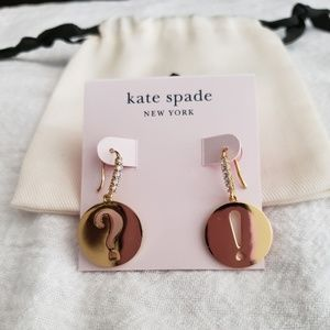 "NWT♡ Kate Spade ""?"" and ""!"" drop earrings"